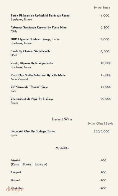 Zerruco Kitchen And Bar - The Ashok Menu 9