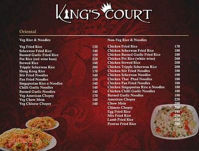King's Court Menu 1