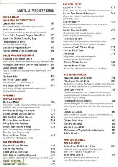 MOETS SHACK - Global Rustic Lounge Menu