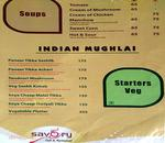 Savory Cafe & Restaurant Menu