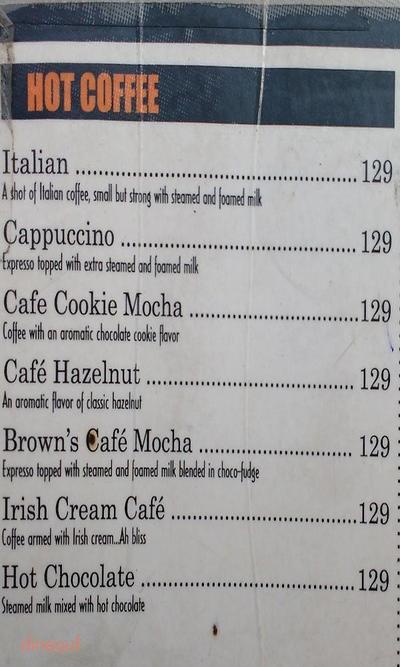 Cafe R.I.P Menu