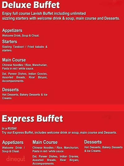 The Buffet Wagon Menu