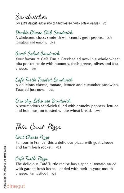 Cafe Turtle Menu 3