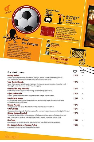 Toss Sports Lounge Menu 5