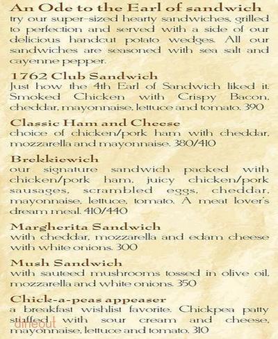 The Breakfast Club Menu 4