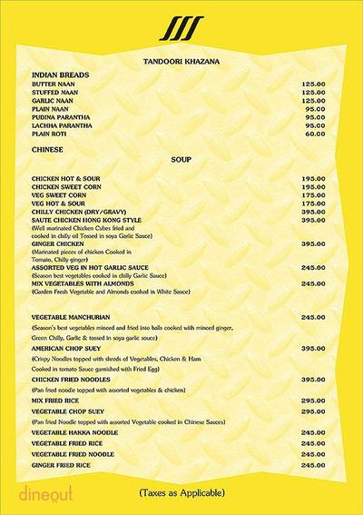 Piccadilly - Ashoka Country Resort Menu 4