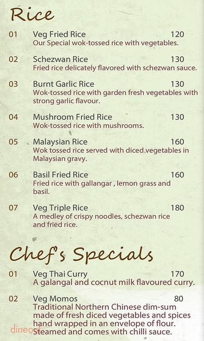 The Veg Kitchen Menu 3