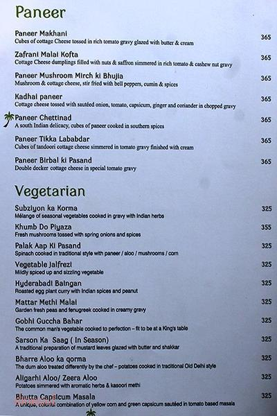 Moets - Curry Leaf Menu 4