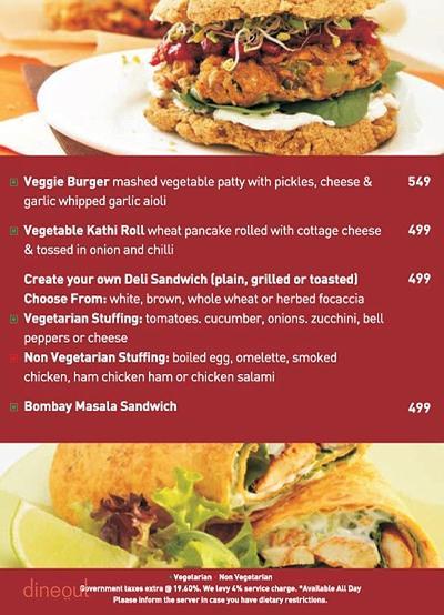 New Town Cafe - Park Plaza Noida Menu 4