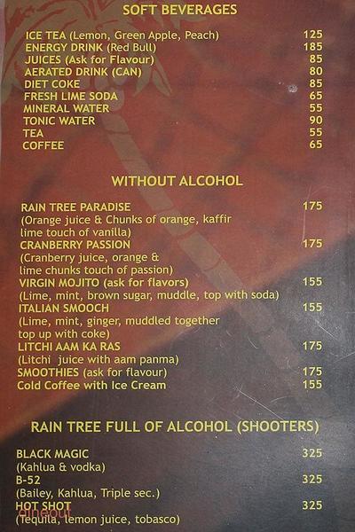 Rain Tree Grill Menu 6