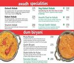 Kitchen of Awadh Menu