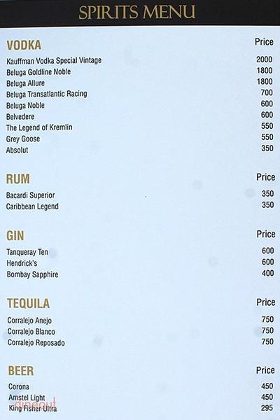Dramz Whiskey Bar & Lounge Menu 8