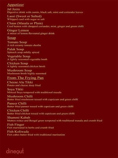 The Great Punjab Menu 8