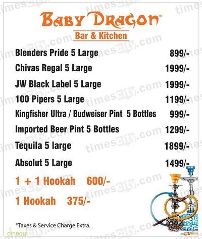 Baby Dragon Restaurant & Bar Menu 5