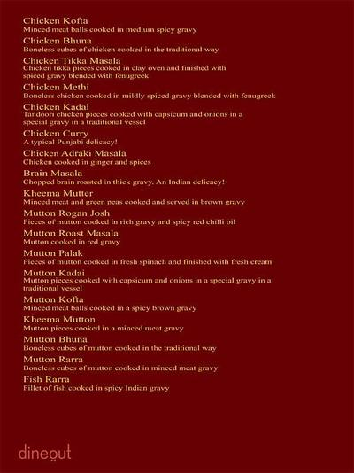 The Great Punjab Menu 12