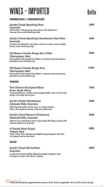 Harry's Bar + Cafe Menu 14