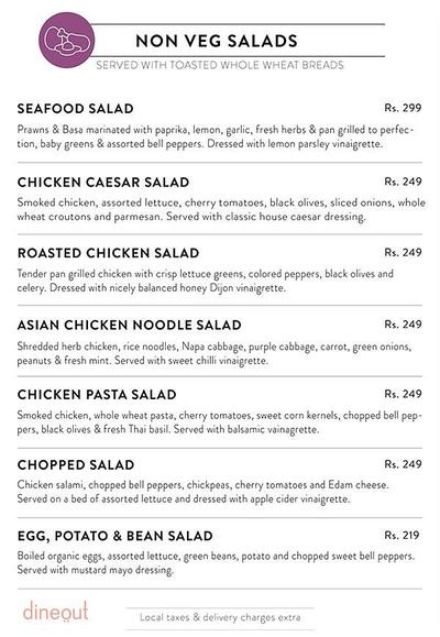 Salad Days Menu 1