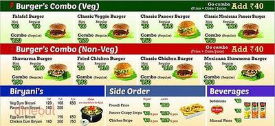 Seven - Shawarma & Burgers Menu 1