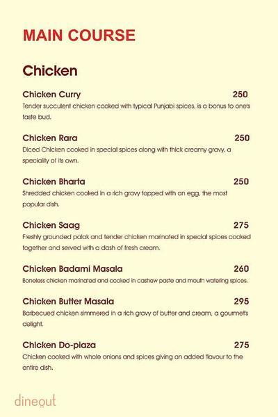Charcoal Grill Menu 8