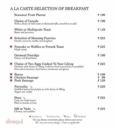 Mosaic - Country Inn & Suites by Carlson Menu 1