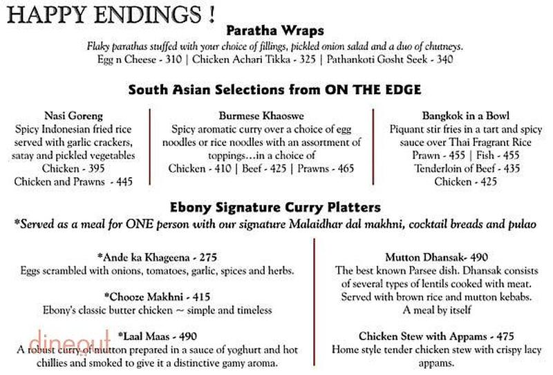 The 13th floor ivory tower mg road central bangalore for 13th floor bangalore menu