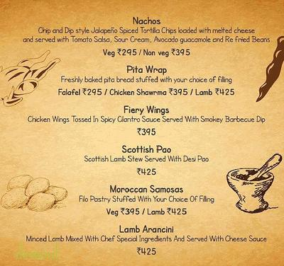 Sutra - The Gastropub Menu 3