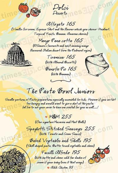 The Pasta Bowl Company Menu 9