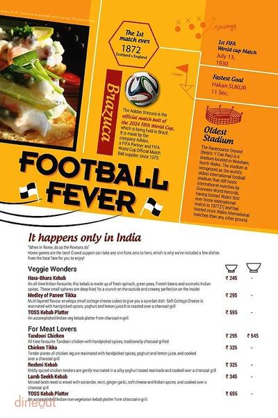 Toss Sports Lounge Menu 6