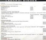 Wangchuk's Ladakhi Kitchen Menu