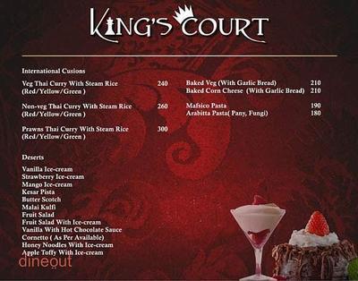 King's Court Menu