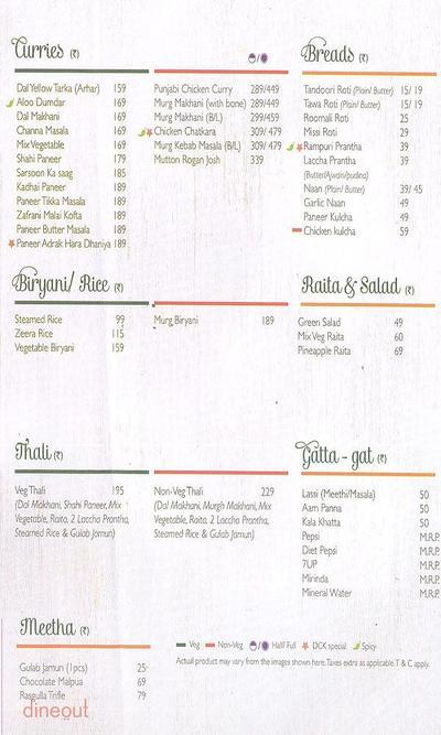 Dana Choga's Kitchen Menu 1
