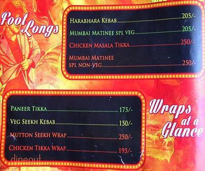 Mumbai Matinee Menu 2