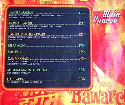 Mumbai Matinee Menu 9