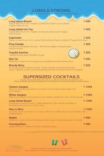 Toss Sports Lounge Menu 19