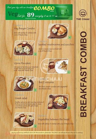 The Chaai Menu 1