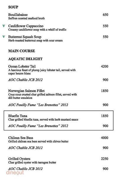 The Grill Room - The LaLit New Delhi Menu 1