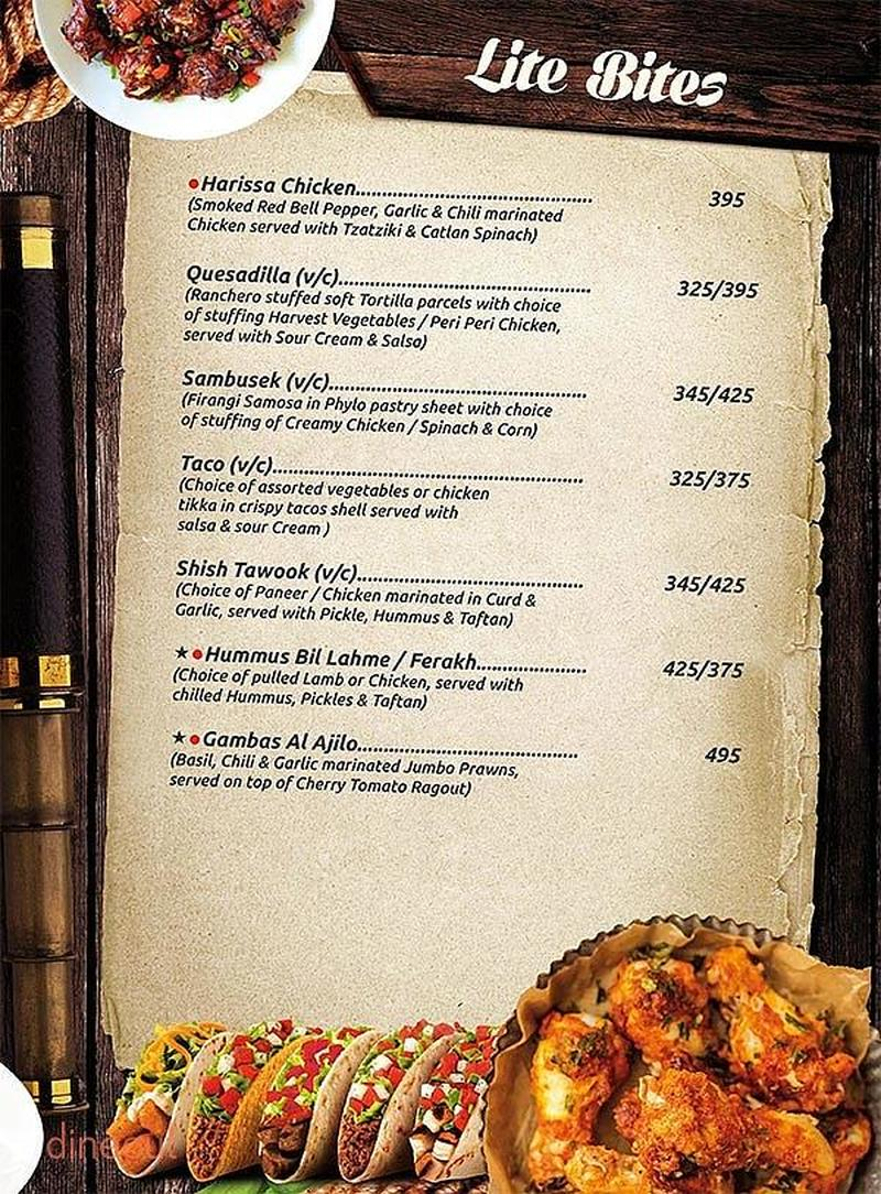Menu of qubitos the terrace cafe rajouri garden delhi for The terrace restaurant menu
