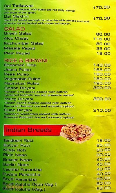 Madhuban Fine Dining Menu 3