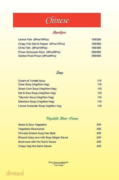 The Fizz Restaurant Bar & Lounge Menu 5