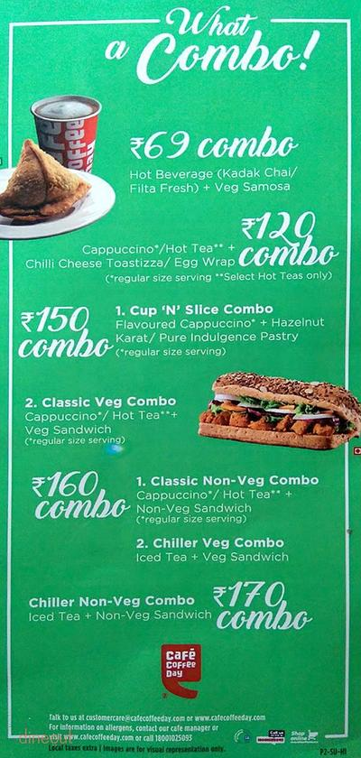 Cafe Coffee Day Menu 3