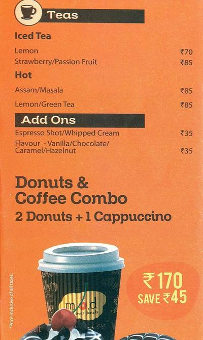 Mad Over Donuts Menu 3