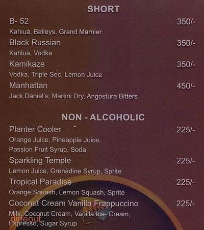 Carrots N Celery - Sun N Sand Hotel Menu 19