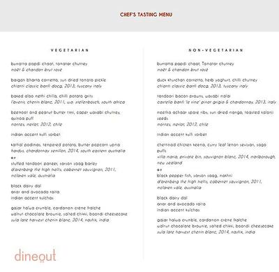 Indian Accent - The Manor Menu 2