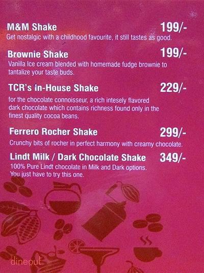 The Chocolate Room Menu 19