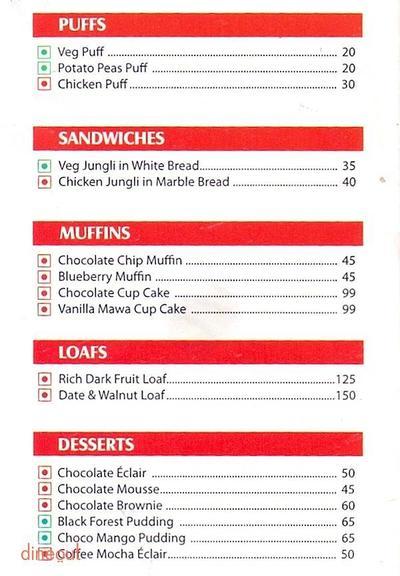 Birdy's Bakery & Patisserie Menu 2