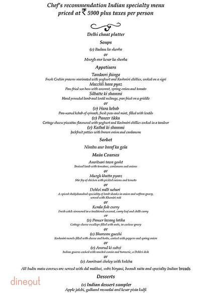 Threesixtyone Degrees - The Oberoi Menu