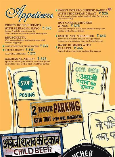 Cafe Delhi Heights Menu 2