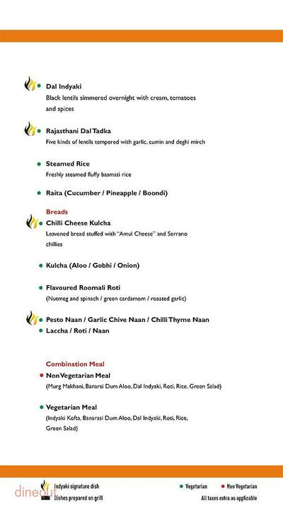 Indyaki - Radisson Blu Hotel Paschim Vihar Menu 9