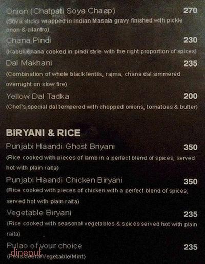 Punjabi Haandi Menu 4