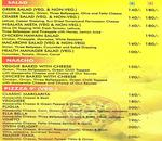 Flamess Restaurant & Cafe Village Menu